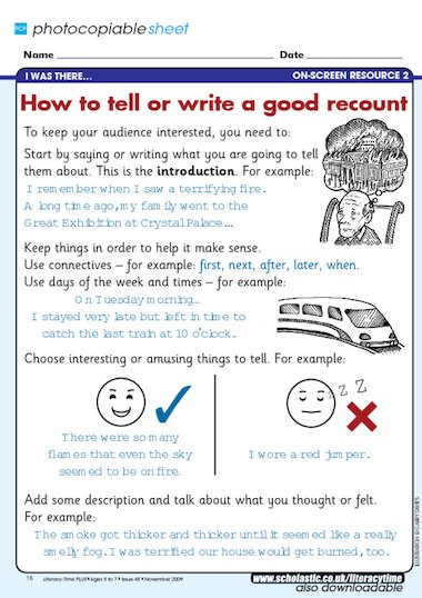 english personal recount essay Personal recount structure of factual recount examples of personal recounts when i was five years old, i took an extreme liking to my sister's toys.