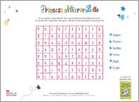 Princess Mirror-Belle Wordsearch