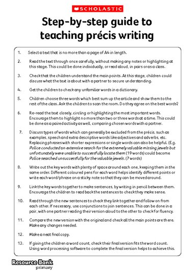 precis writing Learn about precis writing what is precis writing get expert tips on precis  writing.