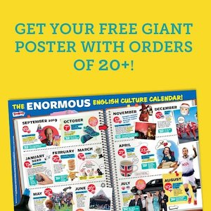 Get your FREE giant poster with orders of 20+!