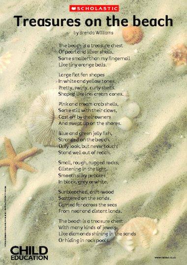Treasures On The Beach Poem Primary Ks1 Amp Ks2 Teaching