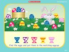 Match the eggs and eggcups game