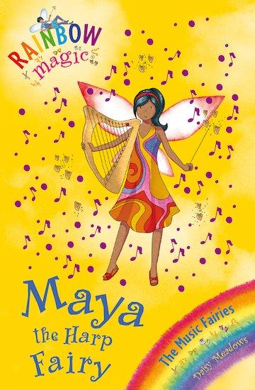 rainbow magic music fairies maya the harp fairy scholastic kids 39 club. Black Bedroom Furniture Sets. Home Design Ideas