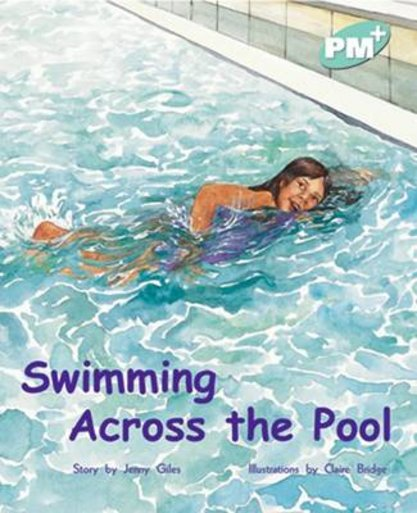 pm turquoise swimming across the pool pm plus storybooks level 17 6 scholastic shop
