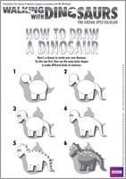 Walking with Dinosaurs How to Draw a Dinosaur