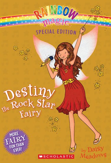 rainbow magic special destiny the rock star fairy scholastic kids 39 club. Black Bedroom Furniture Sets. Home Design Ideas