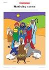 Nativity scene in colour