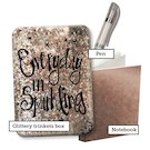 Everyday I'm Sparkling Glitter Stationery Box