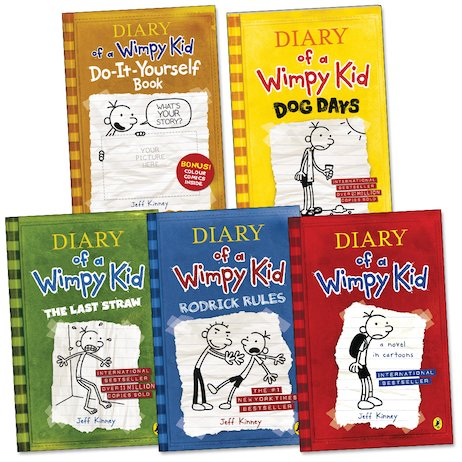 Diary of a wimpy kid pack x 5 scholastic kids club diary of a wimpy kid pack x 5 solutioingenieria Images