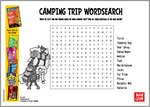 There's a Werewolf in My Tent! - Camping Trip Wordsearch (1 page)