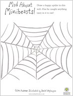 Mad About Minibeasts Draw a Spider