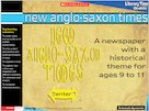 New Anglo-Saxon Times – interactive resource