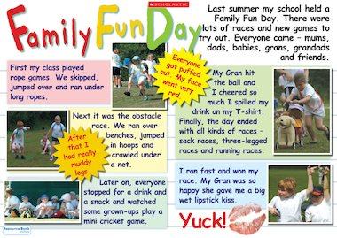 Family fun day - poster - Primary KS1 teaching resource ...