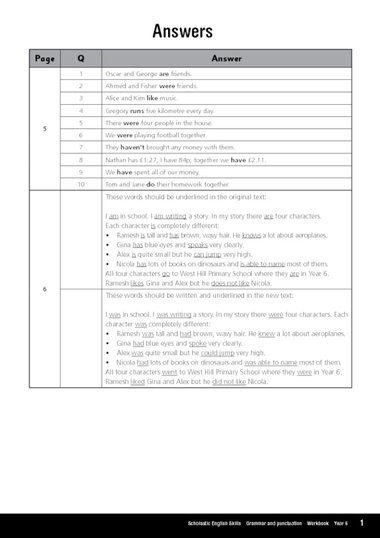 year 6 english grammar workbook pdf
