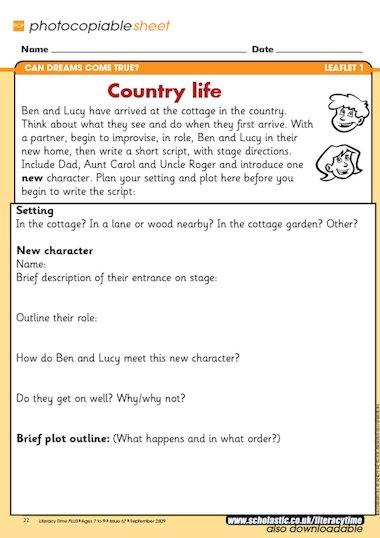 literacy homework playscripts