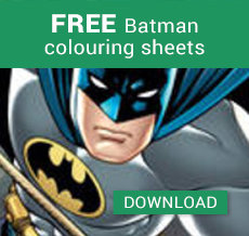 FREE Batman colouring sheets