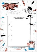 Create Your Own Superhero Epic Activity Sheet 2