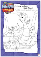 Colour Mike the Knight's dragons