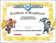 Nexo Knights Forbidden Power Certificate