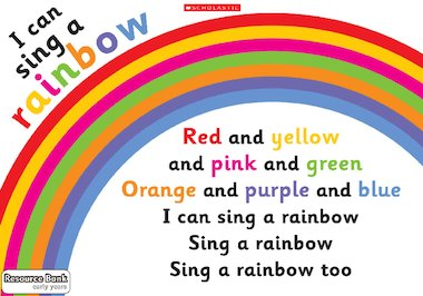 I can sing a rainbow poster early years teaching for Where can i buy rainbow roses in the uk
