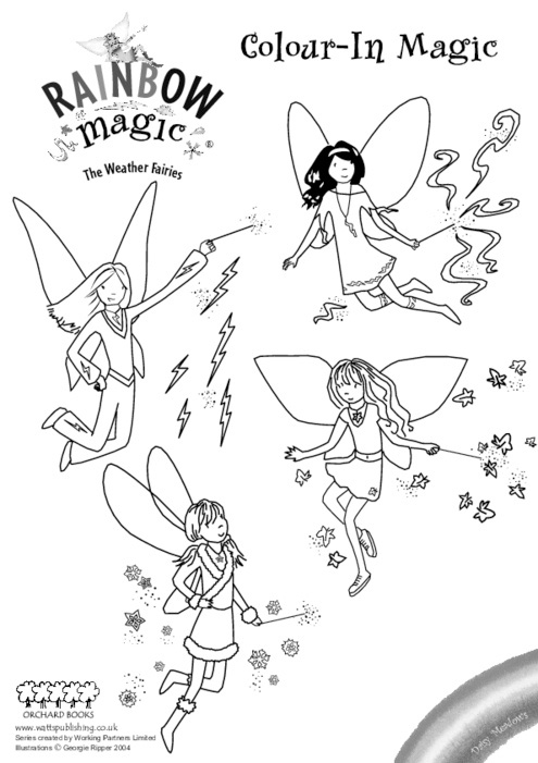 rainbow magic colouring
