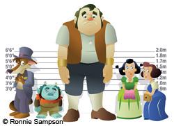 Illustration of fairytale baddies