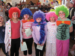 Children dressed up as clowns