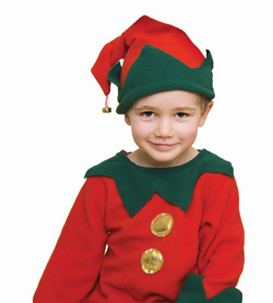 Boy dressed as elf
