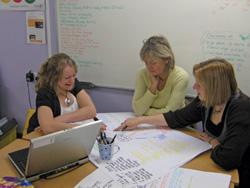 Teachers plan their mantle