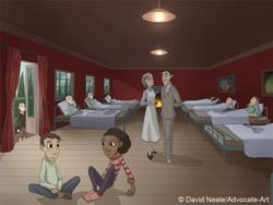 World War II hospital scene