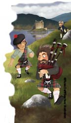Scottish Highland illustration