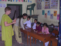 Teaching children in India