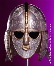 Replica of a helmet from Sutton Hoo