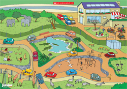 Illustrated safari park