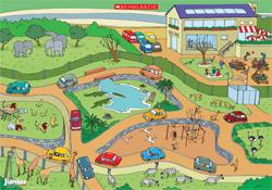 Illustrated safari park