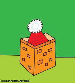 Chimney pot Christmas card