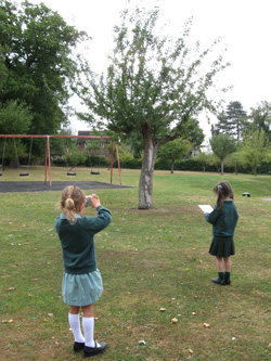 Schoolchildren outdoors