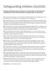 Safeguarding children checklist