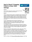 'Hard to Reach? Engaging Fathers in Early Years Settings' research