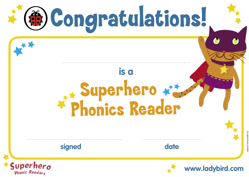 Superhero Phonics Certificate Scholastic Kids Club