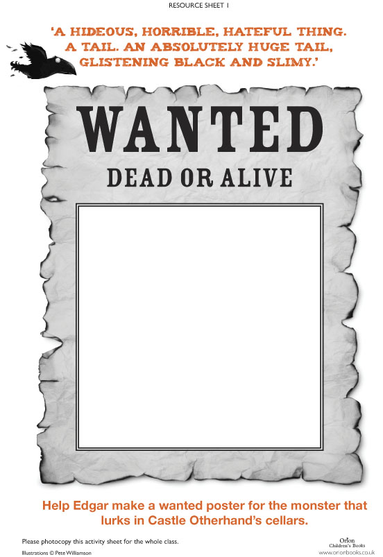 Help Wanted Signs Printable  Free Printable Wanted Poster