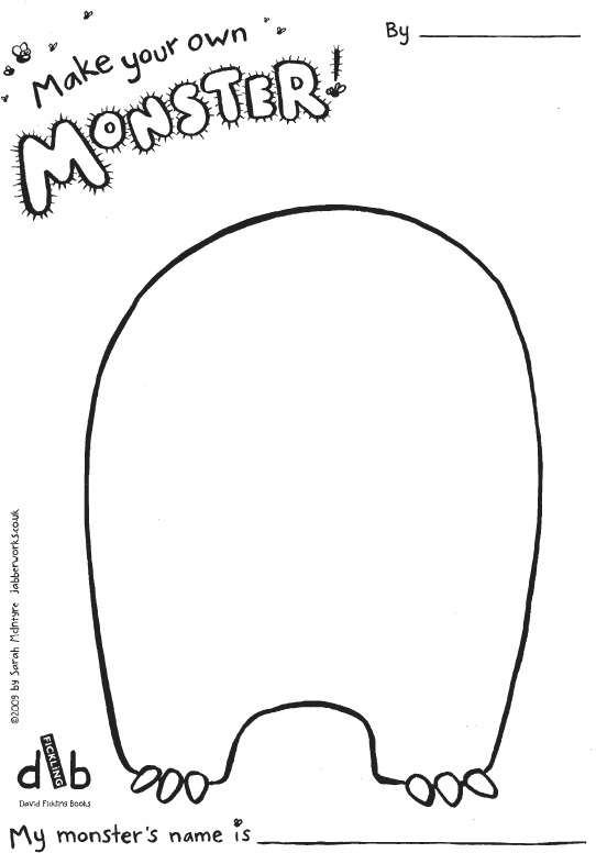 monster outline coloring pages - photo#33