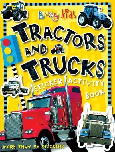 Tractors and Trucks Sticker Activity Book