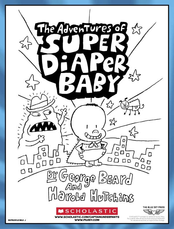 Super Diaper Baby Colouring Scholastic