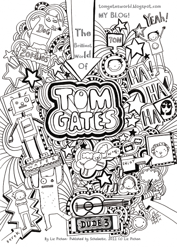 Tom Gates colouring sheet - Scholastic Kids\' Club