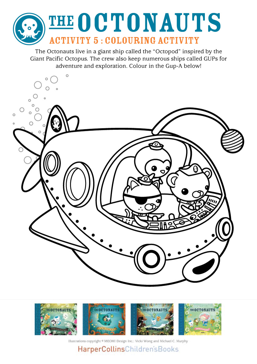 Octonauts Colouring - Scholastic Kids\' Club