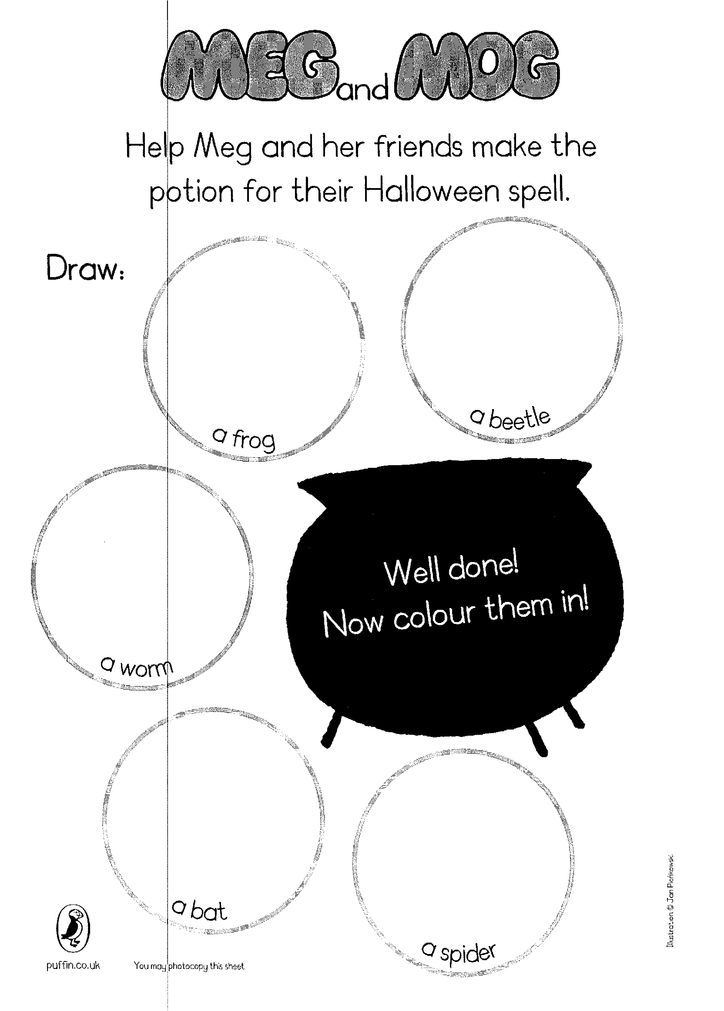 meg and mog halloween spell - scholastic kids' club
