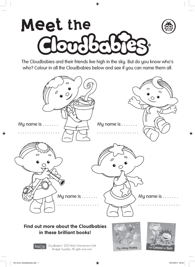cloudbabies coloring pages for kids - photo#1