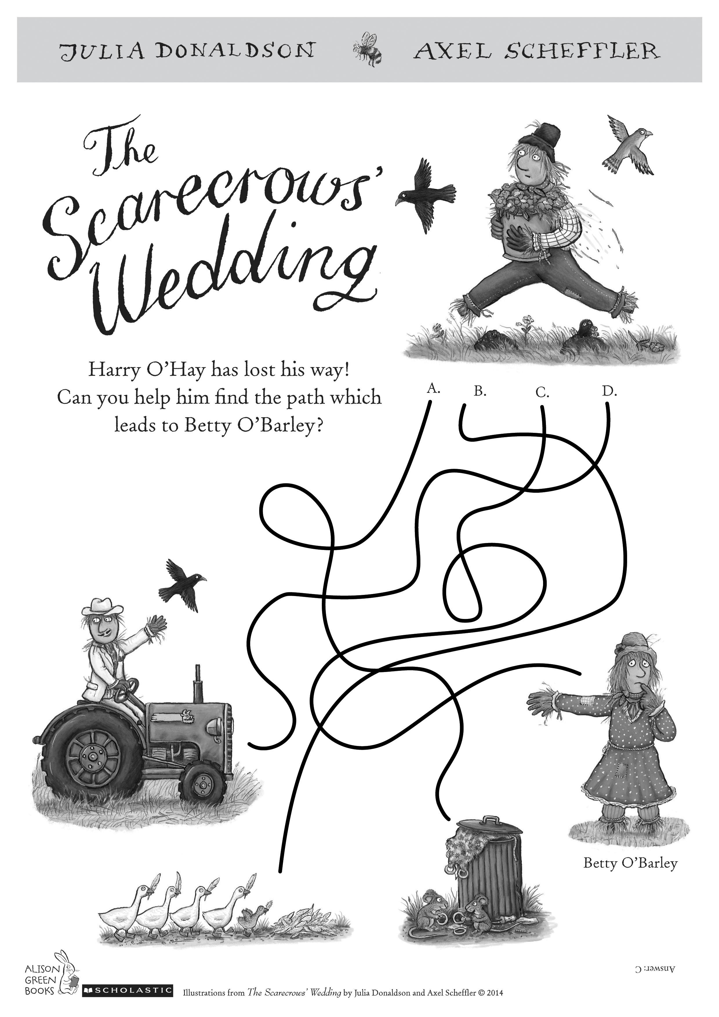 Scarecrow wedding maze act puz 1325300
