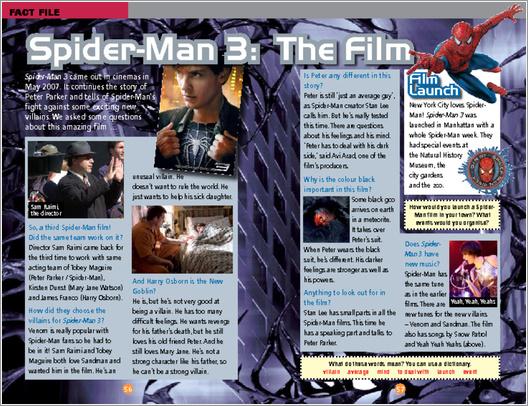 ELT Reader: Spiderman 3 Fact File